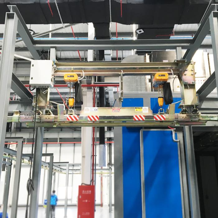 Drop Lift Unit For Powder Coating Niko Conveyor Systems